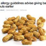 アレルギーについての新しいガイドラインでは、子供に早い時期ピーナッツを与えた方がよい、海外ニュース