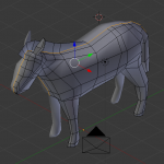 ブレンダーでシマウマをつくろう、3Dローポリモデリング、BlenderでUVマップ、UnWrapの使い方、動物編、Unityでインポート
