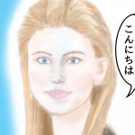 毎日描け、女性顔イラスト、スカーレット・ヨハンソンの似顔絵のつもり、|ゲームパッドコンバータELECOM 、JC-PS101USV エレコムが壊れ、Macフリーズ、その後、壊れたわけではなかったことが判明|「やさしさアンチック」フォント入れました