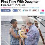海外ニュース見出し、ジョージ・ルーカスは娘エベレストちゃんと一緒の初めての外出|(国内)郷ひろみ、やっぱりスターだ、58歳で双子の父
