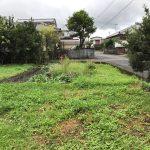 畑の雑草 茂る 、台風接近中 週末田舎暮らし 2017/09/17