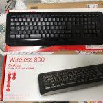ノートPC用の無線キーボードとボタン付きのマウスを買いましたマイクロソフト 無線 キーボード L2 Wireless Desktop 800 2LF-00033