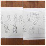 揺れ、動きのアニメーションを勉強中,毎日描け
