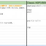 開発言語別簡易文法チート表、VB.NETとC#のチート表他Javascript、PHP