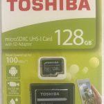 購入履歴、128GB microSDXCカード マイクロSD TOSHIBA