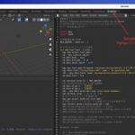 Blender Pythonファイルを開いて 実行手順メモ